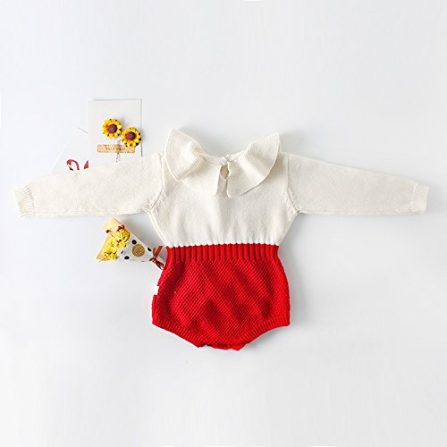 d94f94dcb Eiffel Direct Baby Girls Sweet Knitted Fleece Romper Long - Import ...