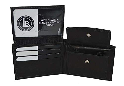 (Boys Slim Compact Flap Id and Coin Pocket Bifold Wallet Black)