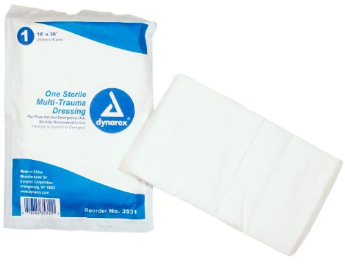 (Trauma Dressing Sterile Extra Absorbent Pads 10
