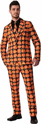 Forum Novelties Men's Pumpkin Suit and Tie Costume, Orange, Standard (Halloween Suits Men)