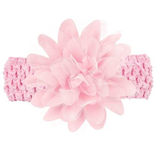 Kehen Baby Girls Headbands Chiffon Flower Lace Band Hair accessories Hair Band For Newborn Infant Toddler (Pink) for $<!--$0.99-->