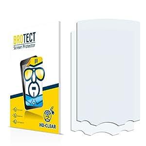 2x BROTECT HD-Clear Protector Pantalla Garmin GPSMAP 60C Película Protectora – Transparente, Anti-Huellas