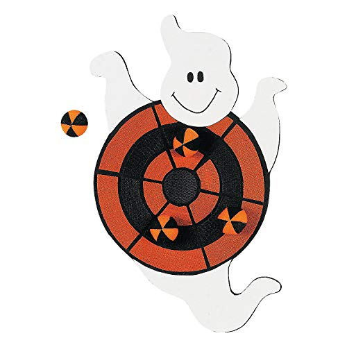 Fun Express - Ghost Dart Board (5pc) for Halloween - Toys - Games - Misc Games - Halloween - 5 Pieces