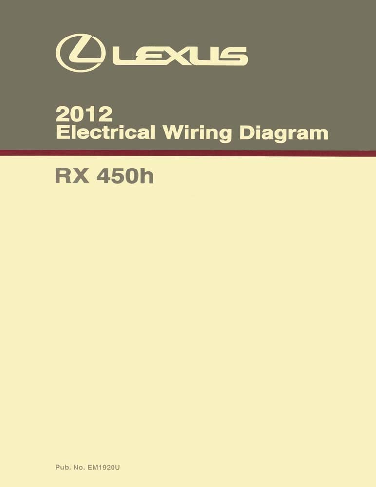 Amazon.com: bishko automotive literature Wiring Diagrams Schematics for The  2010-2012 Lexus RX 450h: Automotive