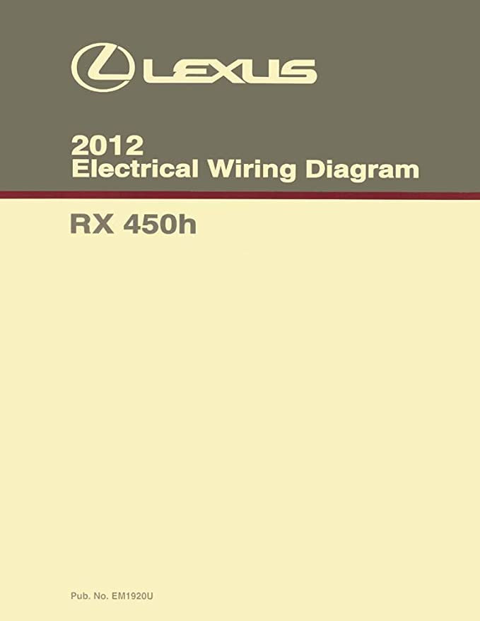 Amazon.com: bishko automotive literature Wiring Diagrams Schematics for The  2010-2012 Lexus RX 450h: AutomotiveAmazon.com
