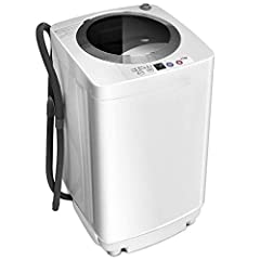 Description: Our portable full automatic laundry washing machine only needs a small space for store, which is a solution for compact living. It is max weight capacity reach 8 lbs, which is good choice for apartment or dorm doing medium or lit...
