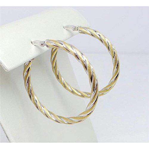 Boucles d'oreilles artisanal Femme schione _ entrelacement-Or