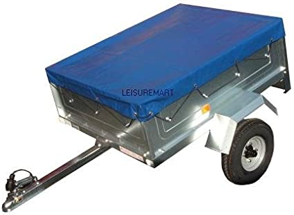 LMX1652 Please ensure the cover is the correct size before ordering. leisure MART 8 x 5 Blue PVC Heavy duty 8ft x 5ft trailer cover Pt No