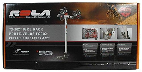 ROLA 59400 TX Soporte para 2 bicicletas con montaje de enganche con inclinación y seguridad