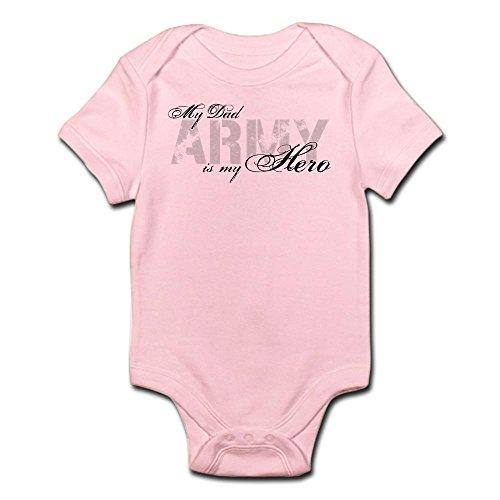 CafePress - Dad Is My Hero ARMY Infant Bodysuit - Cute Infant Bodysuit Baby (Patriotic Military Infant Bodysuit)