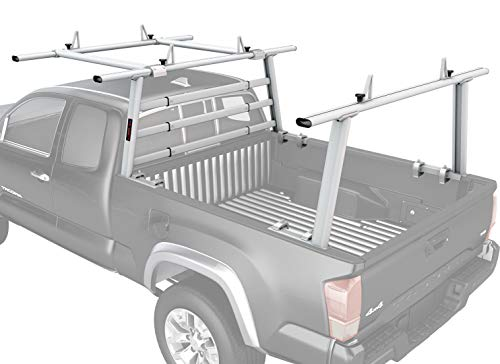 AA-Racks APX25-WG-E Aluminum Headache Rack Pickup Truck Rack w/Cantilever Extension Back Rack - Sandy White