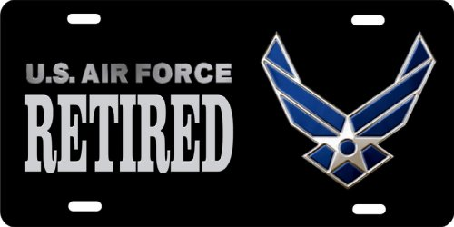 ATD Design LLC Novelty License Plate US air force retired car tag