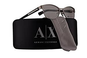 Armani Exchange AX1010 Eyeglasses 53-16-140 Satin Silver Black w/Demo Clear Lens 6027 AX 1010