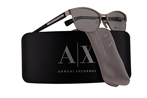 Armani Exchange AX1010 Eyeglasses 53-16-140 Satin Silver Black w/Demo Clear Lens 6027 AX - Exchange Buy Armani