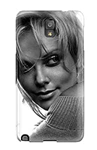 First-class Case Cover For Galaxy Note 3 Dual Protection Cover Charlize Theron Cool Images