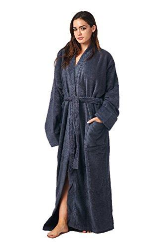 63b4c479d1 High Style Men Women 100% Turkish Cotton Full Length Kimono Bathrobe