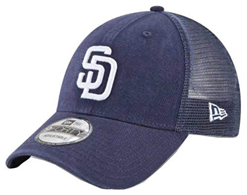 (New Era San Diego Padres Primary Logo Trucker 9Forty Adjustable Hat)