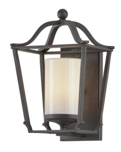 Troy Lighting B6851 Princeton Small Wall Sconce, French Iron with Opal White Glass