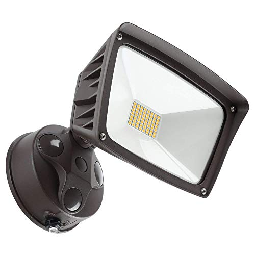 Area Light Security (LEONLITE LED Outdoor Flood Light,Dusk-to-Dawn (Photocell Included), 3400lm, Waterproof Security Floodlight, 28W (220W Equiv.), DLC and ETL-Listed Exterior Lighting for Yard Porch, 5000K Daylight )