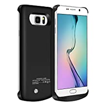 Galaxy Note 5 Battery Case,Elebase Slim External Battery Case,4200mAh Portable Backup Battery Charger, Cover Case for Samsung Galaxy Note 5 ,Rechargeable Power Bank Case(black)