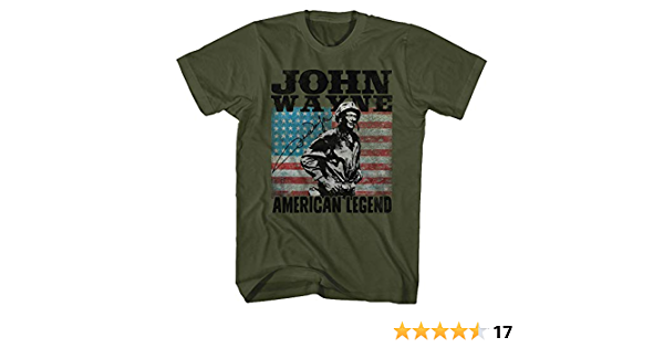 Details about  /John Wayne American Legend With American Flag Adult T Shirt TV Movies