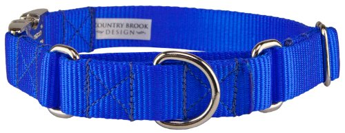 Country Brook Design 10 Heavyduty Nylon Martingale with Premium Buckle-Royal Blue-L