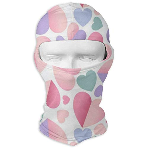 Balaclava Valentines Day Colorful Heart Love You Spring Summer Wedding Full Face Masks UV Protection Ski Cap Womens Snowboard for Motorcycle