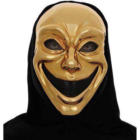 Metallic Skull Mask (Metallic Gold Smile Mask Muse of Comedy Halloween Accessory)