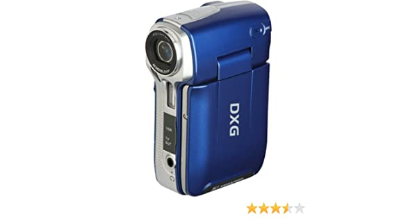 Amazon DXG 565VB 50 Mega PIxel Ultra Compact Digital Camcorder With 24 Inch LCD Display Blue Discontinued By Manufacturer Camera Photo