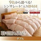9色から選べる シンサレート入り掛け布団 ダブル (色:モカブラウン) tu-38739  寝具専用シンサレート™を使用 掛布団