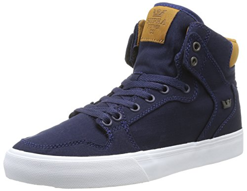 homme mode Bleu Supra White Brown Navy Baskets Vaider TUggt