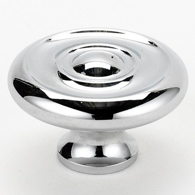 Traditional Mushroom Knob Finish: Polished Chrome, Size: 1