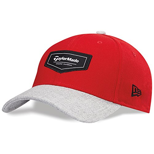 TaylorMade TM15 Pipeline Hat, Medium/Large, Red/Gray Heather ()