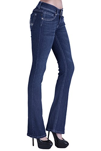 naafii Women's Totally Shaping Stretch Bootcut Jean Luscious Curvy Basic Denim Jeans
