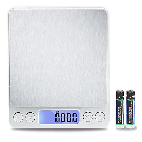 TekSky 500G/0.01G Digital Kitchen Scale - Tare & PCS Functio