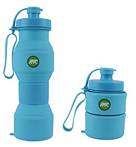 Press-On Collapsible Water Bottle – For Sports and Travel / 28 ounces / Food-Grade Silicone / BPA Free
