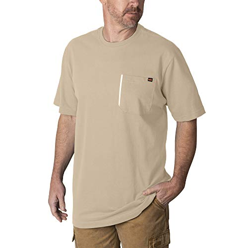Walls Mens Grit Heavyweight Short-Sleeve Cotton Work T-Shirt