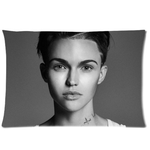 Generic Ruby Rose Sofa Pillowcase Cover Bedding Pillowcase Standard Size Custom Zippered Pillow Cases 16X24  Two Sides