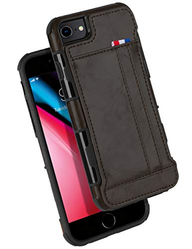 iPhone 8 Case, iPhone 7 Wallet Case, GOOSPERY Protective PU Leather Bumper Cover with Card Holder for Apple iPhone iPhone 7/8 (Dark Brown) IP8-LEA-DKBRN