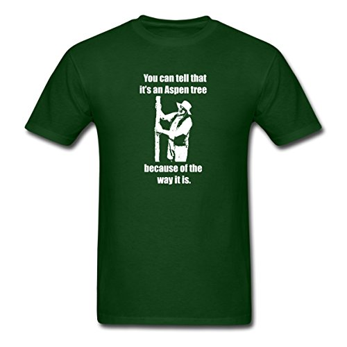 Spreadshirt Lenny Pepperbottom It's an Aspen Tree Men's T-Shirt, S, Forest Green