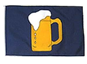 """Jarra de cerveza alcohol azul 12""""x18"""" manga poliéster jardín banderas"""