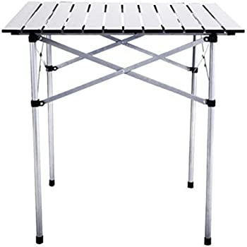 28 x28 roll up table camping set up folding small portable square aluminum with - Low portable picnic table in a bag ...
