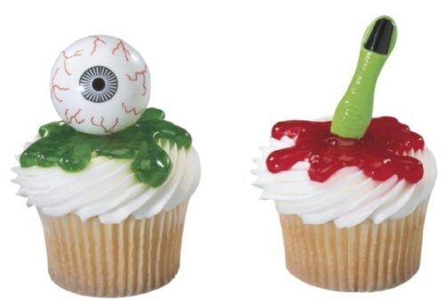 Halloween Eyeballs & Finger Cupcake Pics 24 Count