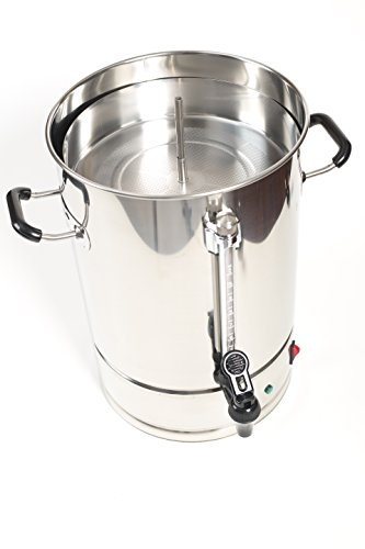 Sybo 10 Liters 60 Cups Stainless Steel Commercial Coffee Maker and Hot Water Heater Urn Pot, Perfect for Catering and Restaurants by Sybo International (Image #2)