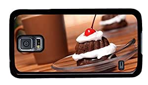 Hipster Samsung Galaxy S5 Case fancy cases cream cake cherry PC Black for Samsung S5