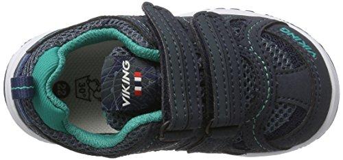 Viking Cascade Ii Gtx, Zapatillas de Deporte Exterior Unisex Niños Blau (Navy/Green)