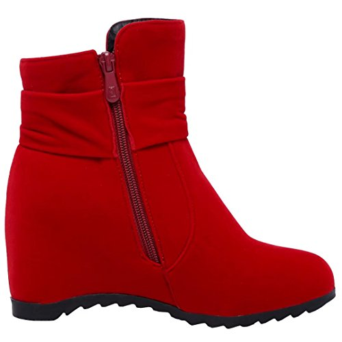 AIYOUMEI Women's Classic Boot Red A1xBCc