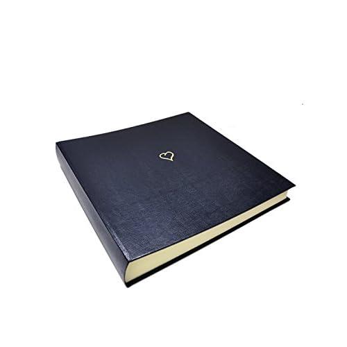 Image of Bookshelf Albums Sloane Stationery Large'Wedding Collection' Heart Album - Navy