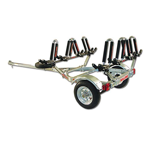 Malone Auto Racks MicroSport Trailer Kayak Transport Package with 4 Malone J-Pro2 Kayak Carriers