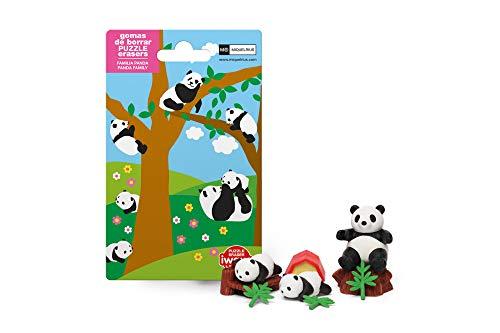 Panda Eraser - Iwako Set Of 6 JAPANESE PANDA PUZZLE ERASER